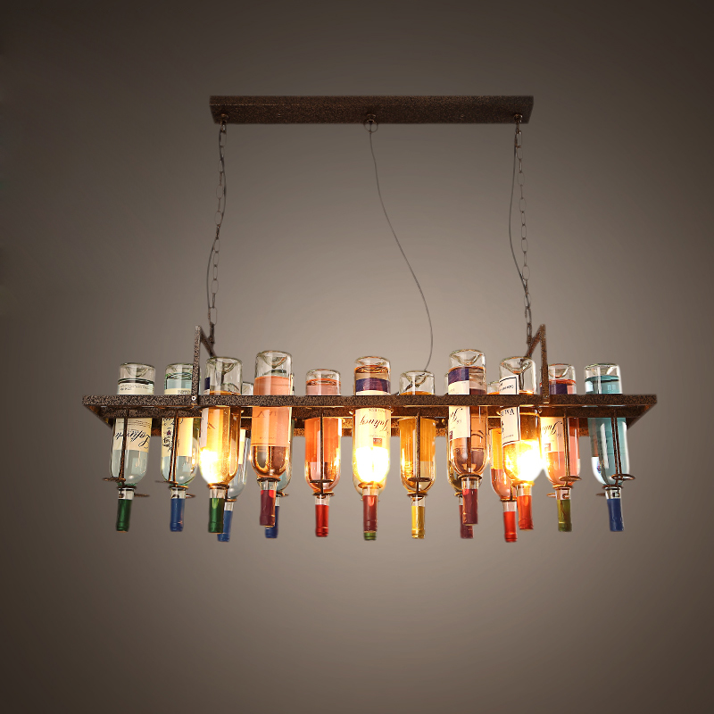 2016 New Creative Design Loft Bottle Pendant Lamp Dinning