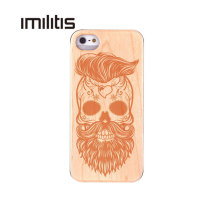 Custom Cover For IPhone 5 5c Natural Wooden Case Bamboo Customized For IPhone 5s Carving
