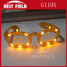 Free shipping 12pcs/lot  Orange pumpkin led Halloween flashing glasses for party