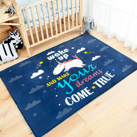 Fashion Cartoon Unicorn Carpet For Bedroom Animal Living Room Floor Mat Coffee Table Bed Front Rug Delicate Kid Climbing Rug