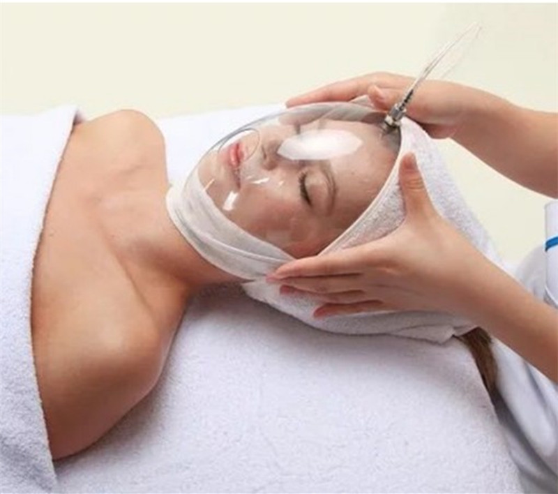 Oxygen Injector Full Face Mask For Face Skin Beauty SPA Transparent Whole Face Cover For Oxygen