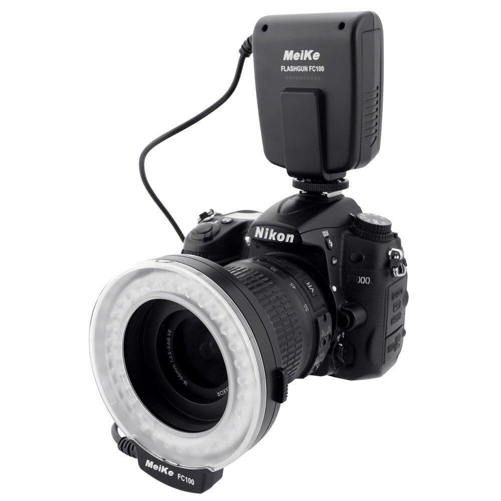 Original Fashion Designer Meike FC 100 LED Macro Speedlite Ring Flash Light for Canon 650D 700D