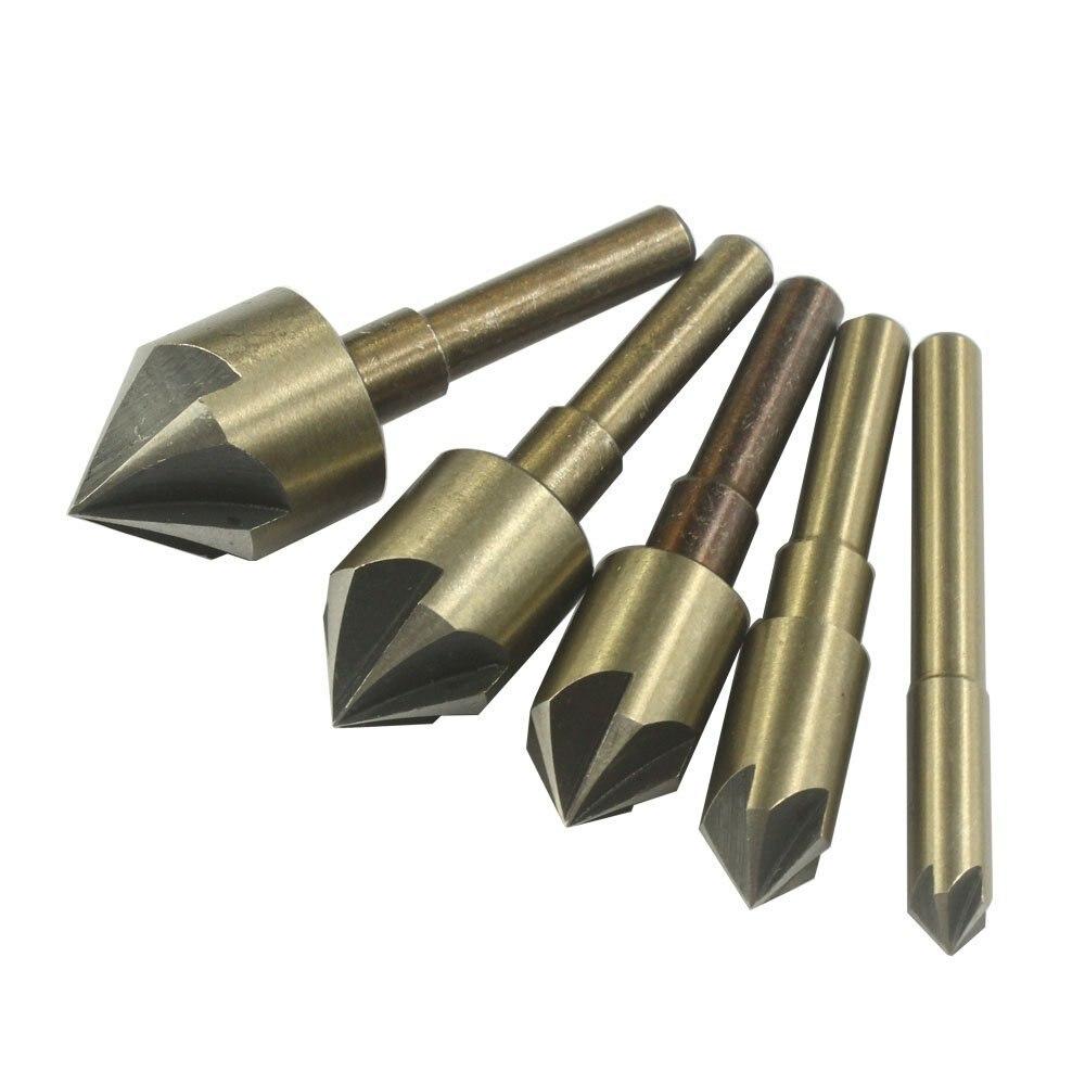 metal deburring tool. 82 degree industrial high speed steel sae countersink drill bit set wood metal chamfering deburring tool , 5 flutes-in underwear from mother \u0026 kids on
