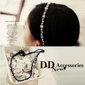 2015 new Wholesale fashion handmade acrylic crystal gems shapes elastic hairbands headband  hairband hair accessories