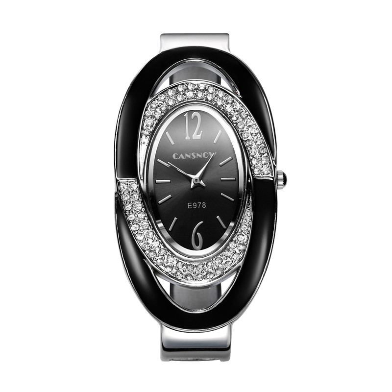 Luxury Rhinestone Bracelet Watch Women Watches Stainless Steel Women's Watches Bangle Ladies Watch Women Clock relogio feminino vintage silver quartz watch fashion stainless steel luxury women watches rhinestone ladies bracelet watches relogio feminino