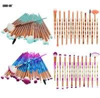 Hot Fashion Makeup Brush Sets 20PCS Professional Make Up Foundation Eyebrow Eyeliner Blush Cosmetic Concealer Brushes Beauty New Health & Beauty