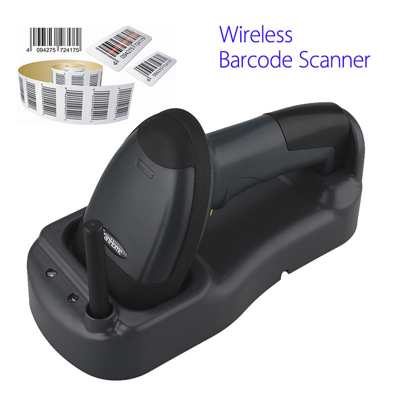 Scanhome 433Mhz Wireless Barcode Scanner Portable Handheld Scan Bar Code Reader W Base 1D USB Barcode