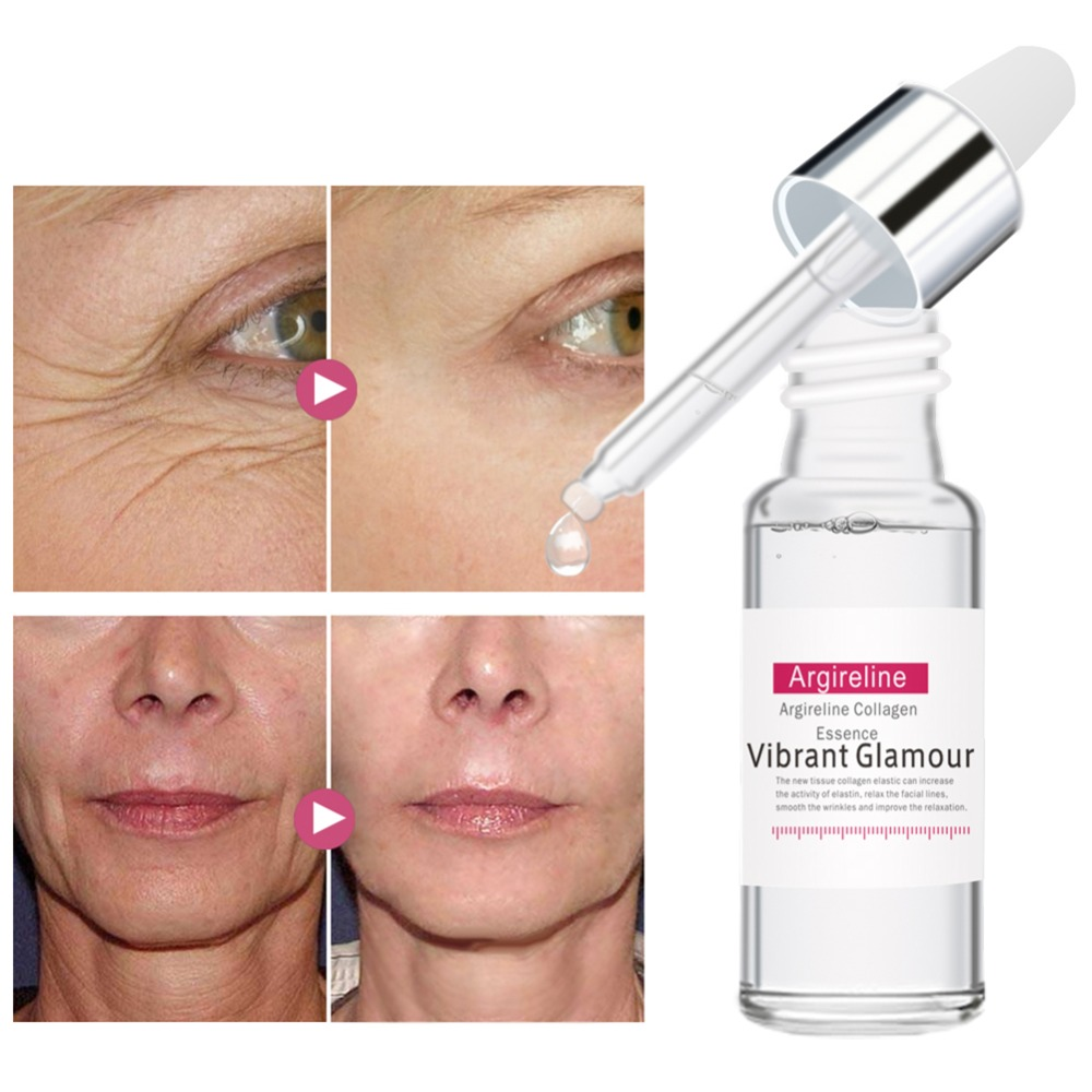 Argireline Collagen Peptides Serum Face Care Anti-Aging Wrinkle Lift Firming Whitening Moisturizing Facial Care Tools