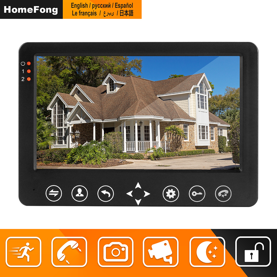 Homefong Video Door Phone Wired Video Intercom For Home 7 inch Monitor with Motion Detecting Support