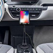 מהיר צ י אלחוטי מטען לרכב כוס מחזיק אוויר Vent הר עבור iPhone X XR XS 8 סמסונג S9 S8 S7 s6 הערה 9 טלפון מטען