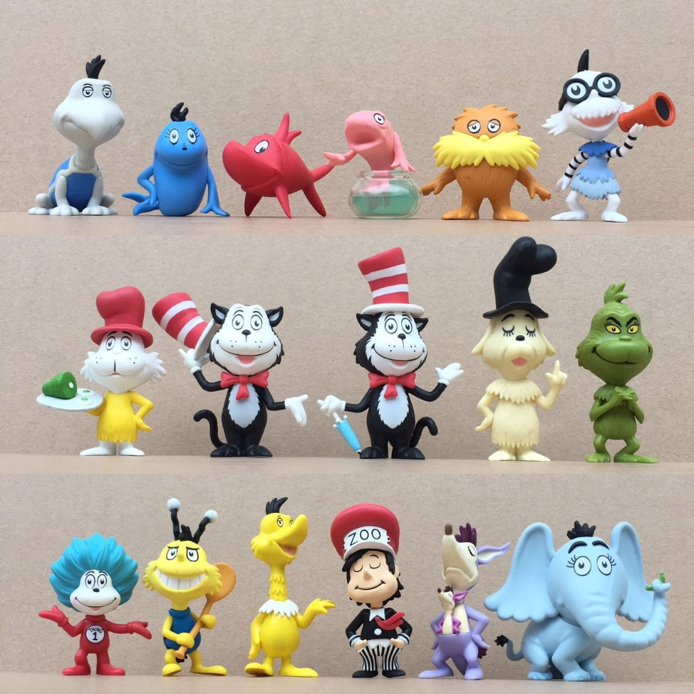 FGHGF Mystery POP Minis Blind Dr. Seuss The Grinch Gerald McGrew Fish in Bowl Thing Red Fish Exclusive Vinyl Figure Y18062701 dr seuss s book of colors