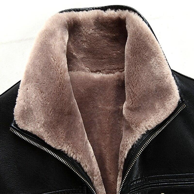 Ilmainen toimitus Kuuma Myynti Talvi paksut lampaannahkavaatteet - Miesten vaatteet - Valokuva 5