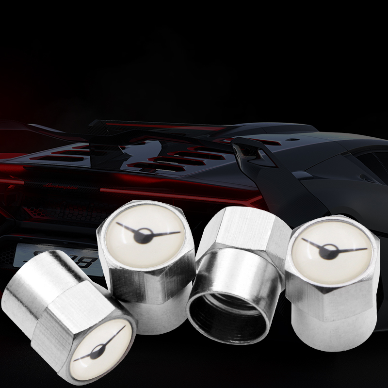 4 pieces suitable for <font><b>UAZ</b></font> <font><b>469</b></font> stainless steel wheel tire covers valves caps waterproof cover car-style badge accessories image