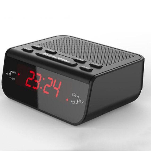 LED Digital Alarm Clock Radio With FM Sleep Timer Snooze Function Bedroom  Desk Watch Electronic Digital