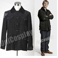 Sherlock Holmes Dr. John Watson Coat Cosplay Costume Black Jacket for Man Adults