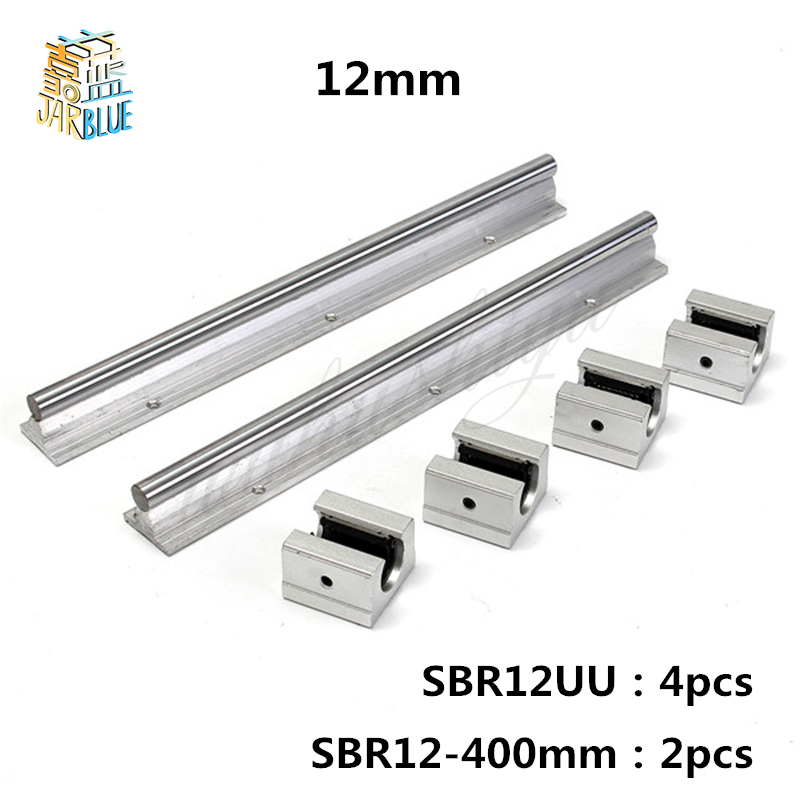 Free Shipping 12mm linear rail SBR12 L 400mm support rails 2 pcs with 4pcs SBR12UU blocks for 12mm linear shaft support rails tryptophan 99% l tryptophan 100pieces bottle support relaxation promote result sleep aid support positive mood free shipping