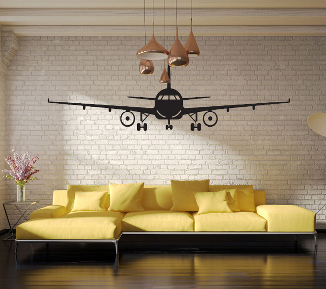 4028 Airplane Wall Stickers Muraux Decor Art Decal Decoration Vinyl Removable