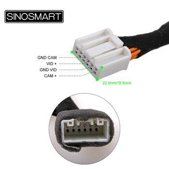 Cable de conexión SINOSMART C12 para cámara de marcha atrás Mazda 3 Sedan Axela para Monitor OEM sin dañar el cableado del coche