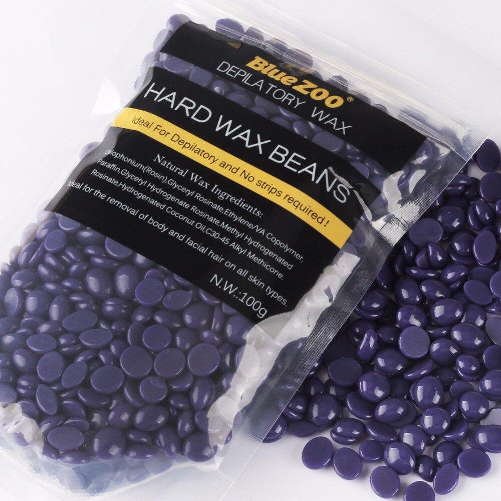 Hot Body Beauty Hot Hard Wax Bikini Hair Removal Tool No Strip Depilatory Bean Wax Depilation Paste Lavender Taste 100g