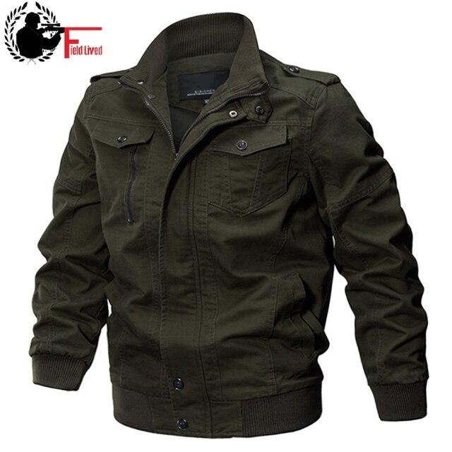 Military Jacket Men Autumn Cotton Pilot Jacket Coat Army Male Bomber Jackets Air Force Cargo Flight Jaqueta Plus Size 5XL 6XL
