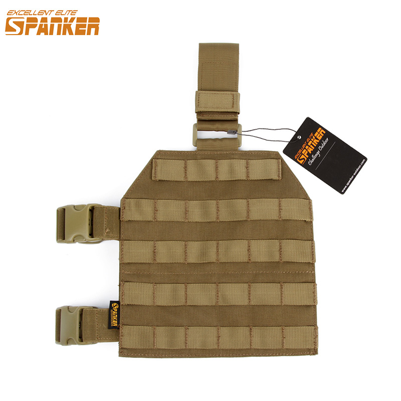 EXCELLENT ELITE SPANKER Outdoor Tactical Legs Hanging Plate Hunting Leg Panel Molle Military Portable Leg Sets Slingshot Hanging