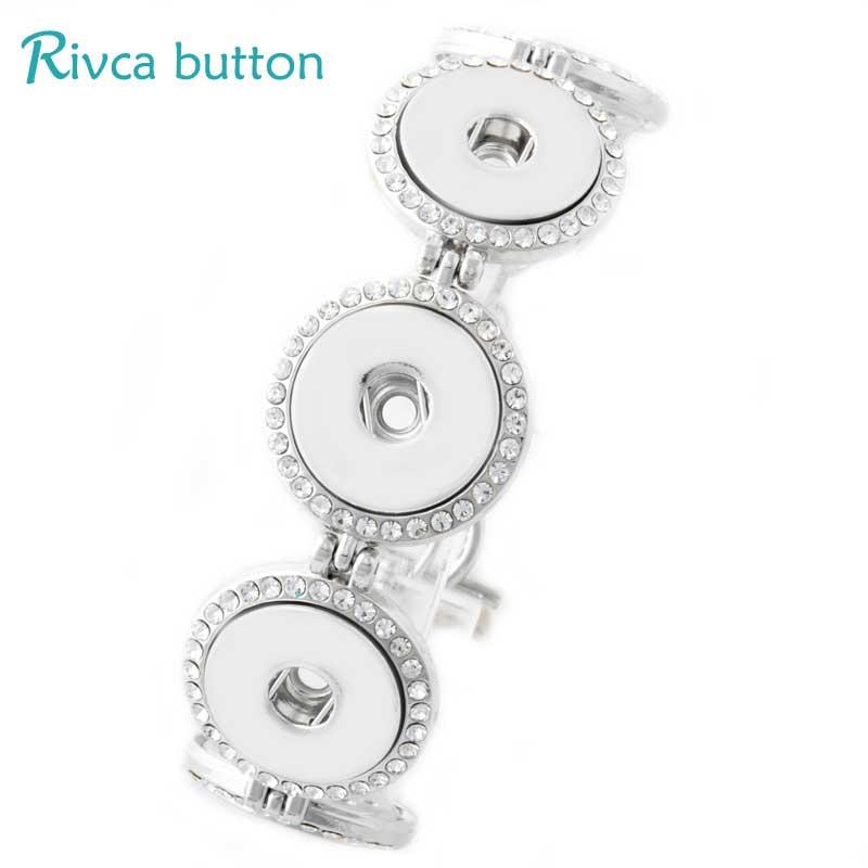 P00773 הכי חדש כפתור הצמד צמיד & צמידים עתיקים בציפוי כסף סגולה צמידי Fit DIY18mm Rivca תכשיטי כפתורי הצמד