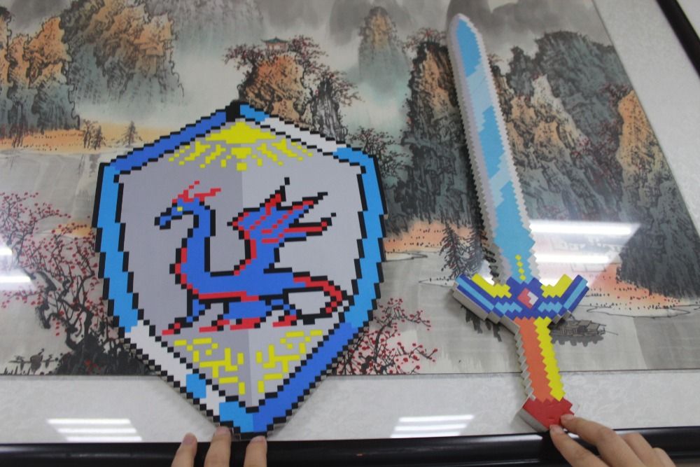 newest  minecraft sword and shield . minecraft toys of Hero series . we are the HERO for the world magnus chase and the sword of summer