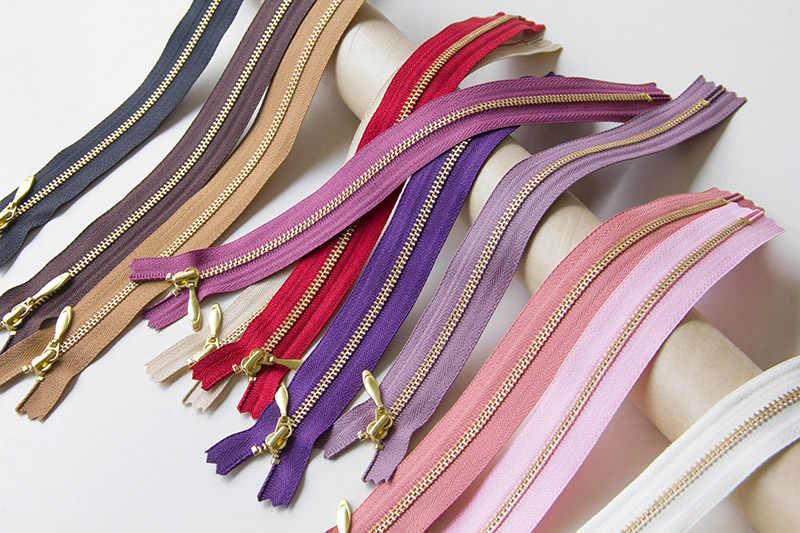 1 stücke YKK 3 # Gold Zahn Metall Zipper Close-end Auto Lock DIY Für Tasche Geldbörse Kleid Schuhe patchwork Zubehör