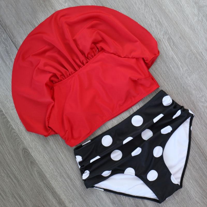 HTB1gZzQX1L2gK0jSZPhq6yhvXXaq 2018 Bikinis Women Swimwear High Waist Swimsuit Halter Sexy Bikini Set Retro Bathing Suits Plus Size Swimwear XXL