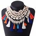 Sea Shell Choker Necklace Jewelry Bohemian Beach Tassel Necklace Shell Chain For Women Collar Chocker 2016
