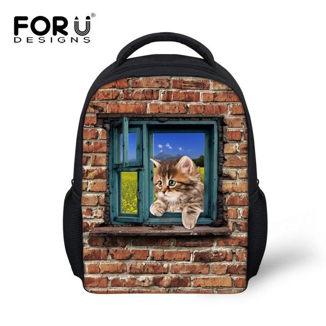 Diseño Animal Lindo Gato Perro ortopédicos Mini Niños Mochilas Niños Pequeños Mochilas para Niñas Mochila Escolar
