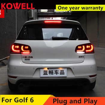 KOWELL Car Styling for VW GOLF 6 MK6 GOLF6 R20 TAIL Lights LED Tail Light LED Rear Lamp DRL+Brake+Reversing+Signal assembly