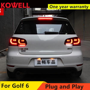 Image 2 - KOWELL 자동차 스타일링 VW 골프 6 MK6 GOLF6 R20 테일 라이트 LED 테일 라이트 LED 후면 램프 DRL + 브레이크 + 반전 + 신호 어셈블리