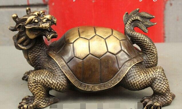 ᐂ007942 Folk Chinois Bronze Cuivre Fengshui Richesse Longevite