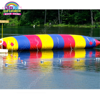 Giant 12m*3m Inflatable Water Jumping Pillow,Water Catapult Blob Island Float Air Bag For Custom Pool Floats