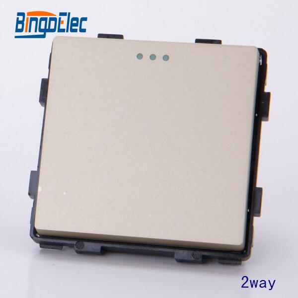 1gang 2way switch modular part, no frame ,EU/UK standard,Hot sale дутики no limits no way