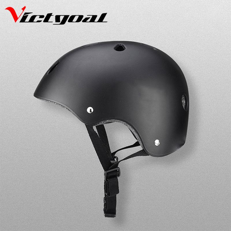 все цены на VICTGOAL Bike Helmet Kid Roller Skating Helmets Men Women Sports Helmet Skateboard Safety Helmet HipHop Breaking Protective Gear онлайн