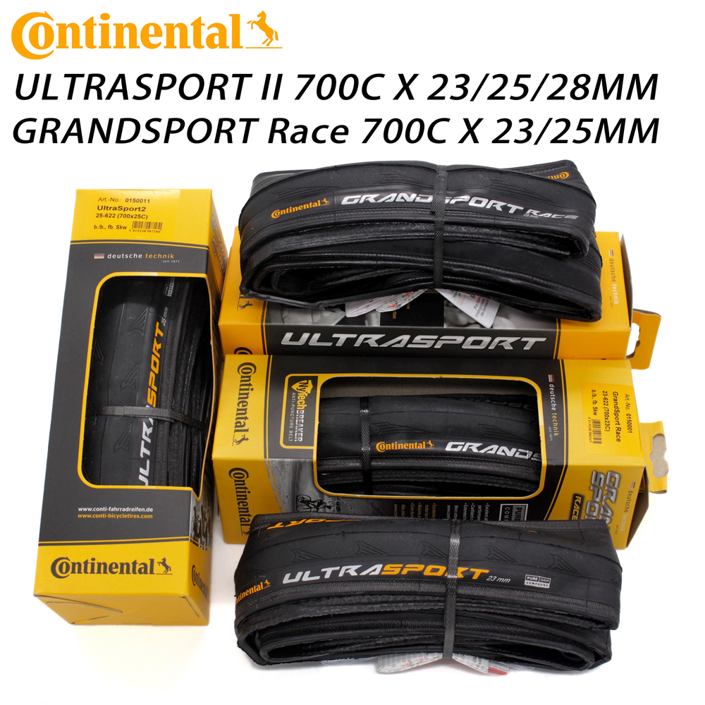 Continental 700c x 23 25 Ultra Sport 11 Road Bike Black Bicycle Tyres 700 New