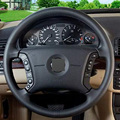 Black Leather Hand-stitched Car Steering Wheel Cover for BMW E46 318i 325i E39