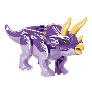 1 pcs Dinossauros Tiranossauro Jurassic world minecraft Legoing Montar Blocos de Construção de Tijolos Figuras de Animais Brinquedos Para As Crianças