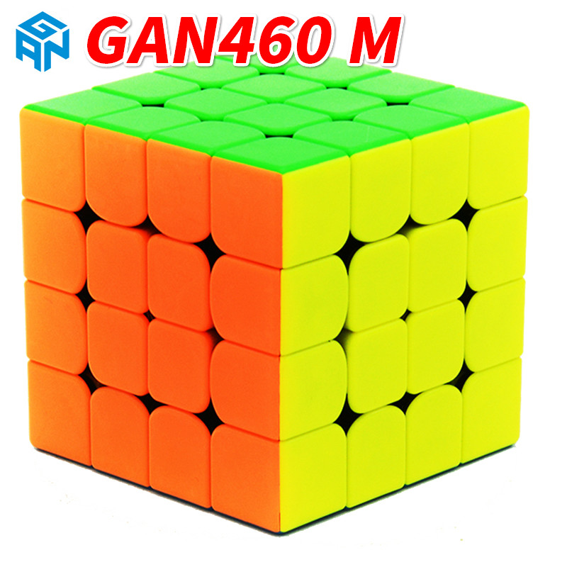 GAN460 M 4x4x4 Magnetic Professional Speed Magic Cube Gan 4 4Layer Educational Puzzle Toys For Children