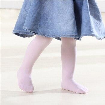 Lovely Candy color baby girl tights for girls bebe newborns toddler infant ballet dance pantyhose solid velvet infantile 0-2Y tights