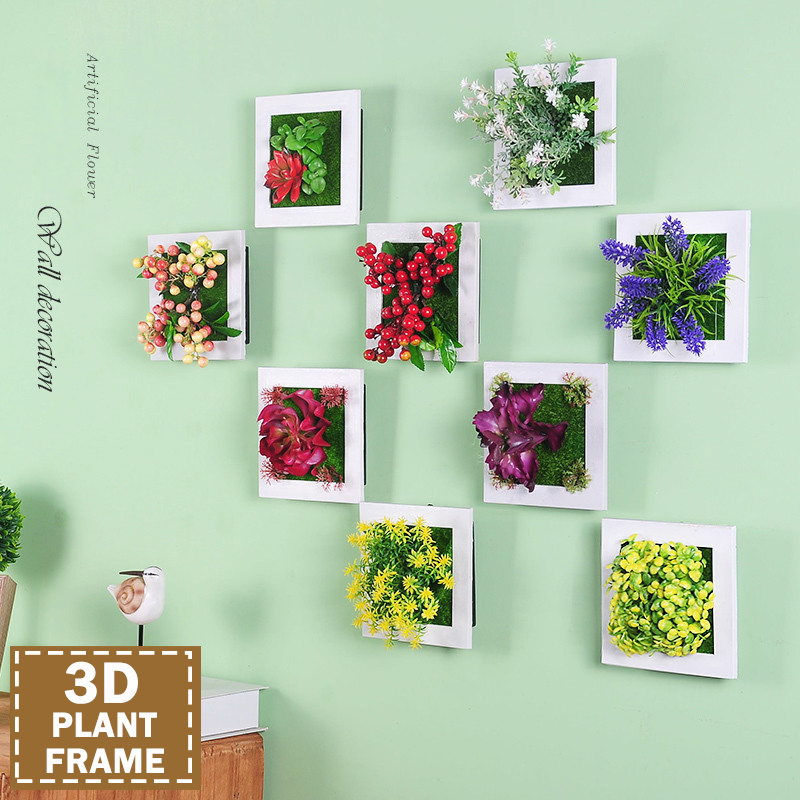 Home decoration 3d artificial flowers plants imitation for How to make wall decoration
