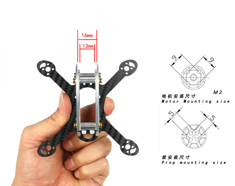 Flyegg New Arrival 100 / 130 Kit Body Frame for KingKong Mini FPV RC Drone Quadcopter F21469/70 f04305 sim900 gprs gsm development board kit quad band module for diy rc quadcopter drone fpv
