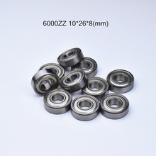 6000ZZ 10*26*8 Mm 1 Buah Bearing 6000 6000z 6000ZZ Chrome Steel Deep Groove Bearing Gratis Pengiriman(China)