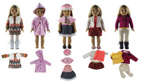 Hot 5 PCS Different Style Doll Clothes for 18'' American Girl Bitty Baby Doll S19