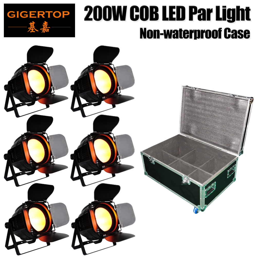 6IN1 Stackable Flight Case 200W Stage Par LED Can 64- Red Green Blue White Amber LED Stage Lighting DMX512/Sound/Auto Control