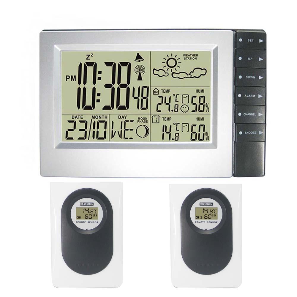Digital Lcd Temperatur Und Feuchtigkeit Meter Uhr Alarm Office & School Supplies Kalender