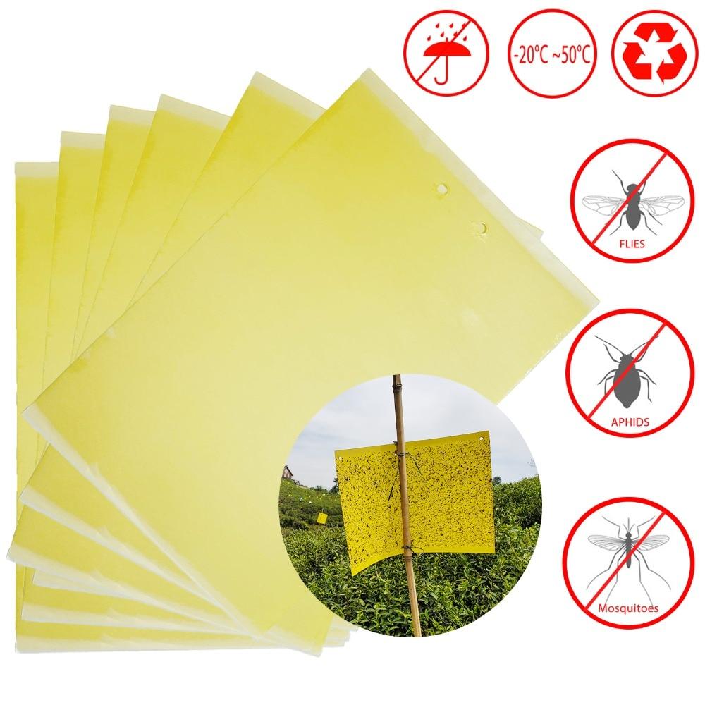 20x15cm 5 pieces fly glue trap anti moustique aphids white flies mosquitoes fruit fly catcher killer|Traps| |  - title=