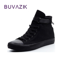 Spring Summer 2017 Men Canvas Shoes Leisure Solid Color High Top Shoe Man Fashion Color Hight